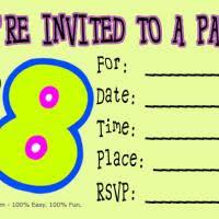 8th birthday invitation