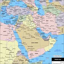 political map middle east