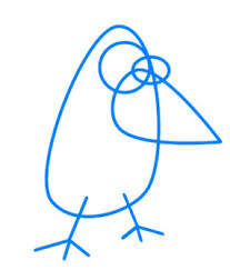 how to draw a blue bird