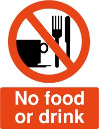 no food no drink sign