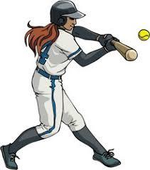 girls softball clip art