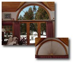 half round window treatments