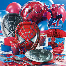 spiderman birthday decorations