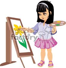 children painting clip art