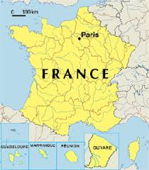 childrens map of france
