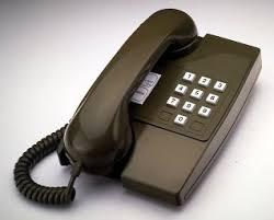 brown telephone