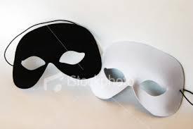 black white masks