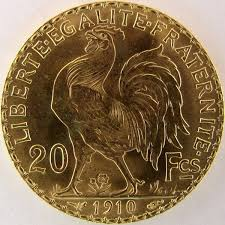 french gold coin