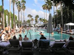 hotel pool party