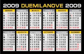 calendario italiano 2009