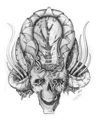 free skull tattoo flash