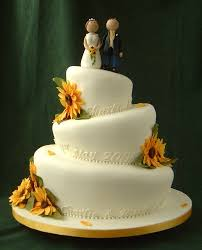 sunflower wedding cakes