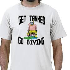 scuba diving t shirt