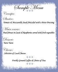 french menu samples