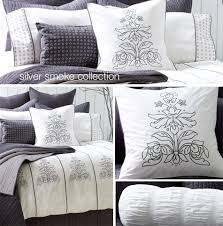 silver bed comforter