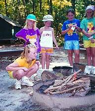 girl scouts camping