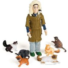 crazy cat lady figure