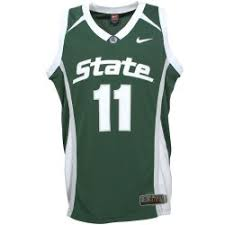 michigan state basketball jerseys