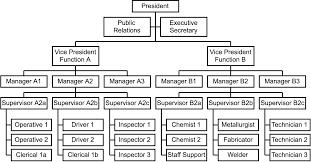hierarchical organizational chart
