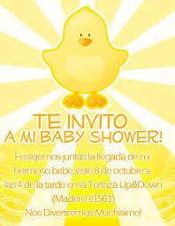invitaciones para baby shower en espanol