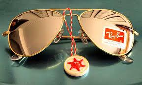 ray ban aviator gold mirror