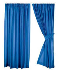 curtains blue