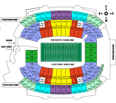gillette stadium seating map