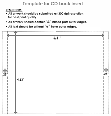 cd inserts template