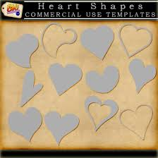 heart shape templates