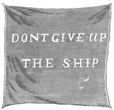 don t give up the ship flag
