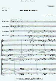 pink panther sheet music for clarinet