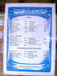 mexican food menu in spanish