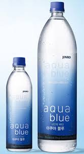 blue mineral water