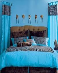 brown and turquoise comforters