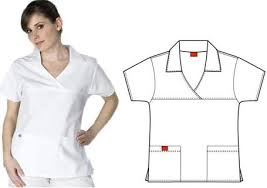 white nursing uniform