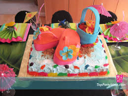 hawaiian party cakes