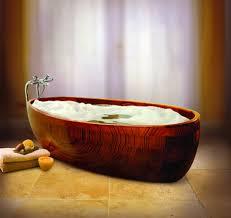 wood bath tub