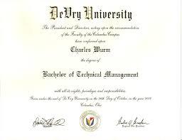 devry degree
