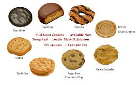 girl scout cookies picture
