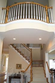 oak stair railing