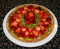 custard fruit flan