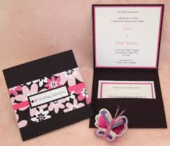 pink and brown wedding invitation