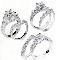 engagement ring wedding band