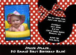 minnie birthday invitations