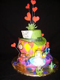 alice in wonderland birthday cakes