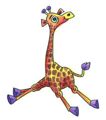 baby giraffe cartoon