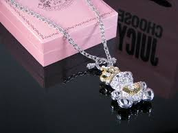 juicy couture teddy bear necklace