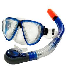 dive mask and snorkel