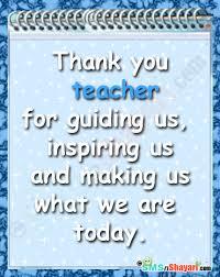 thanks to teacher