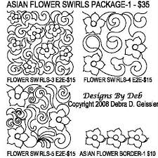 asian flower design